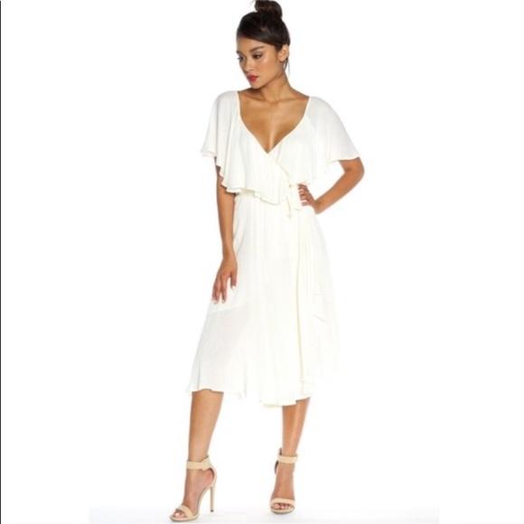 d7f333b954c64 NEVER WORN NWT Misty Wrap Crinkle Midi Maxi Dress